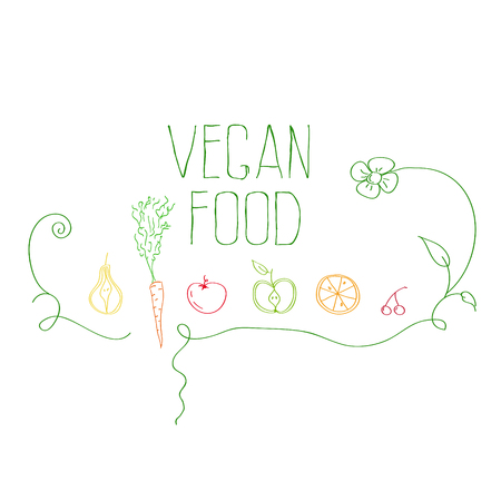 vegan food Illustration