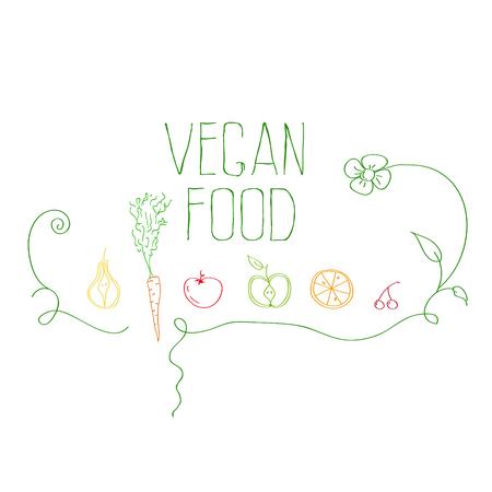 vegan food Иллюстрация