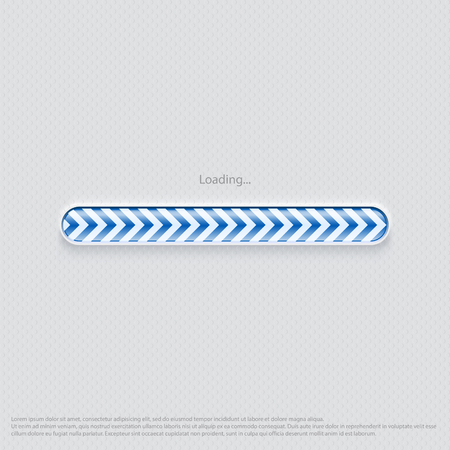 Loading web design blue