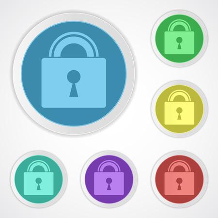 Lock icons closed Illusztráció