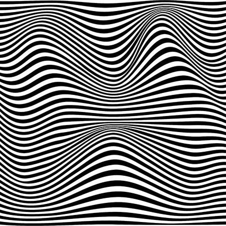 A black and white optical illusion. Vector Illustration Stock Vector - 76498632
