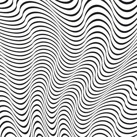A black and white optical illusion. Vector Illustration