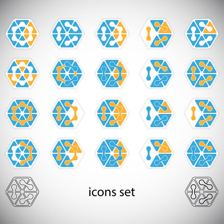 Abstract icons set. Vector Illustration