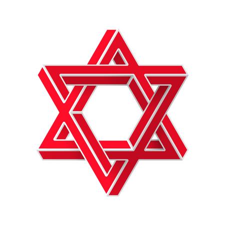 Impossible star of David. Vector Illustrstion