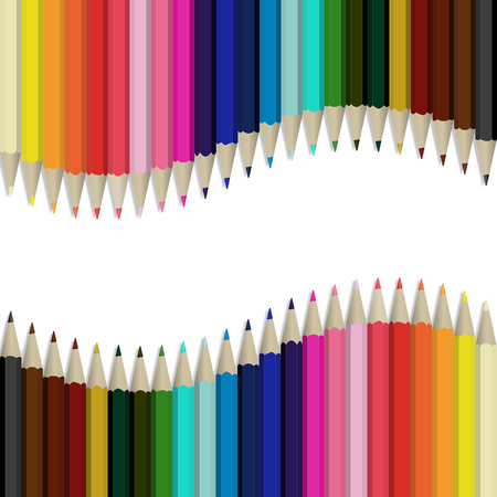 Pencils multicolored abstract background Illustration