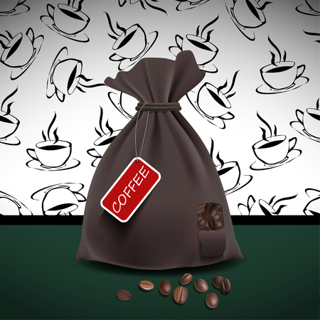 Bag of coffee. Vector illustration