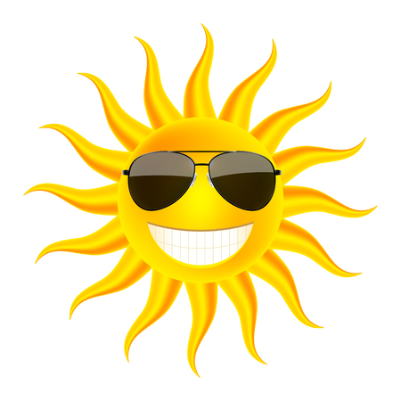 buoyant: Summer time. Sun in glasses. Vector Illustration