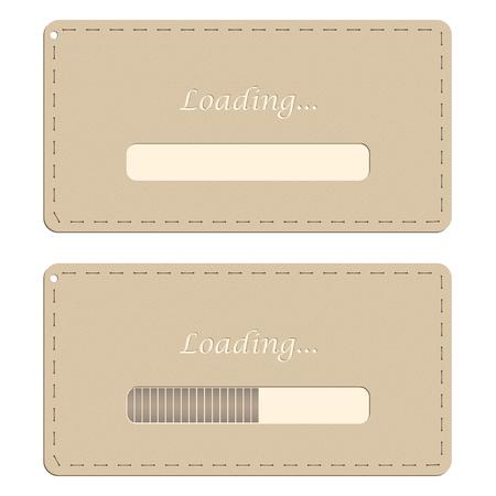offline: Loading Web design handmade