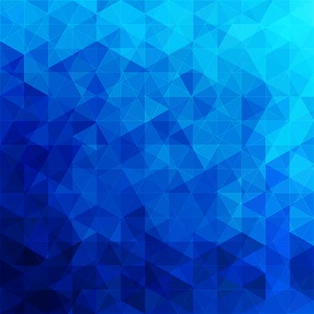 driehoekige abstracte achtergrond blauwe oceaan Stock Illustratie