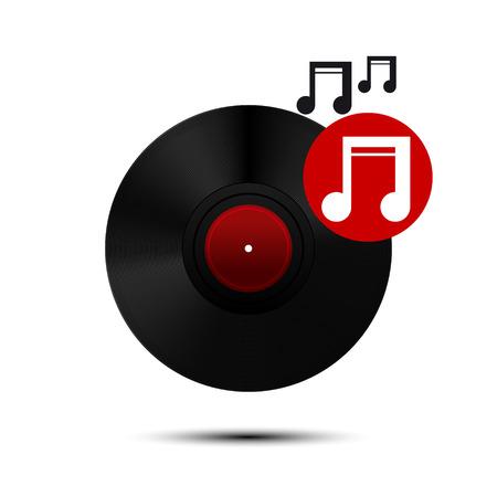 Vinyl record icon. Vector Illustration