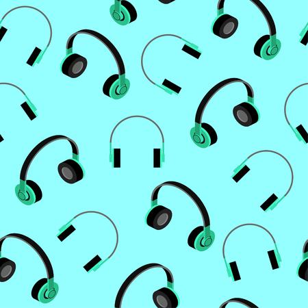 Headphones seamless pattern. Vector Illustration Illustration