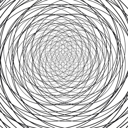 円形の抽象的な背景。ワイヤー。ベクトル図