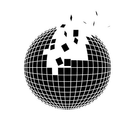 sphere disintegration Ilustracja