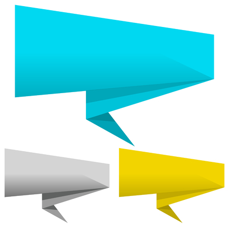 Banner pointer set. Vector Illustration