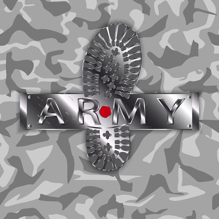camouflage army boot