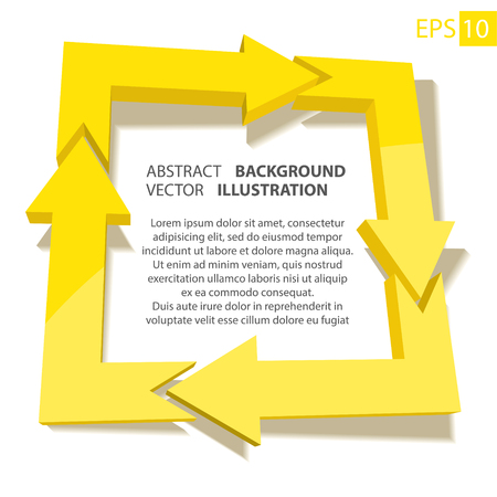 Business infographic 3D. Abstract background. Vector Illustration