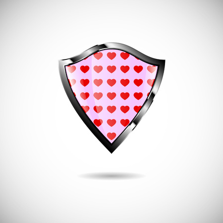knightly: shield heart Illustration