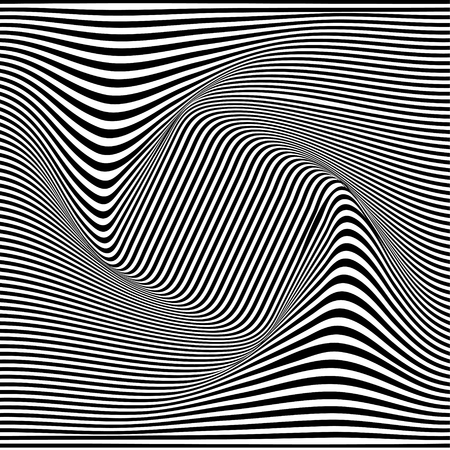 A black and white optical illusion. Vector Illustration Stock Vector - 76833641