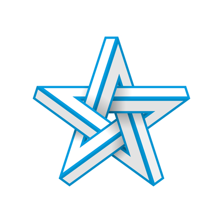 Impossible star. Vector Illustrstion