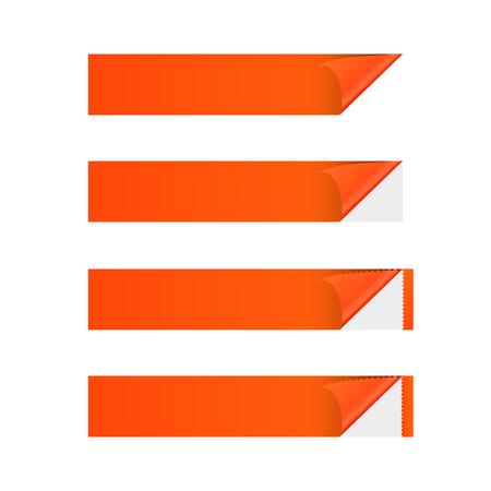 sticker banner orange