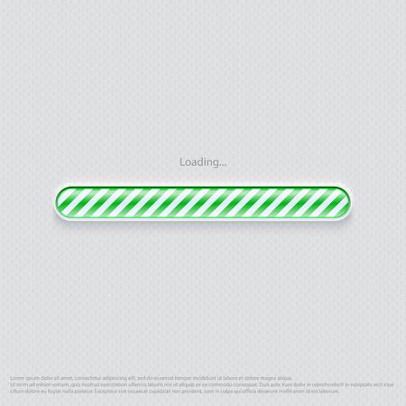 웹 디자인 녹색로드 중 일러스트