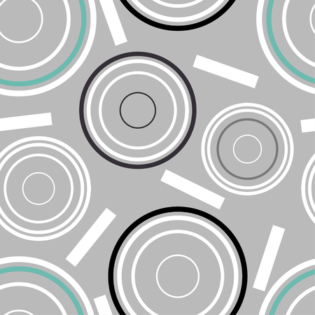 Concentric circles seamless pattern. Vector Illustration