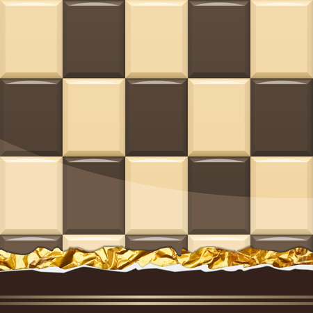 tucker: Milk Chocolate pattern. Vector Illustration