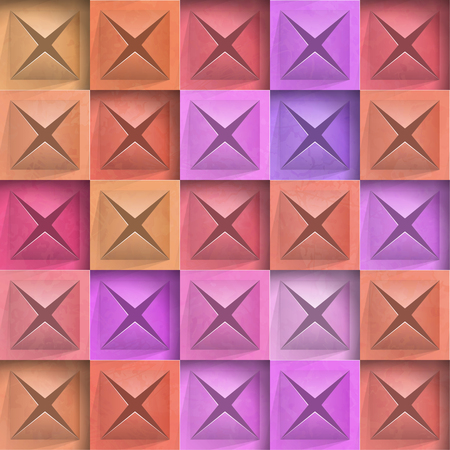 Abstract background stone squares. Vector Illustration  イラスト・ベクター素材