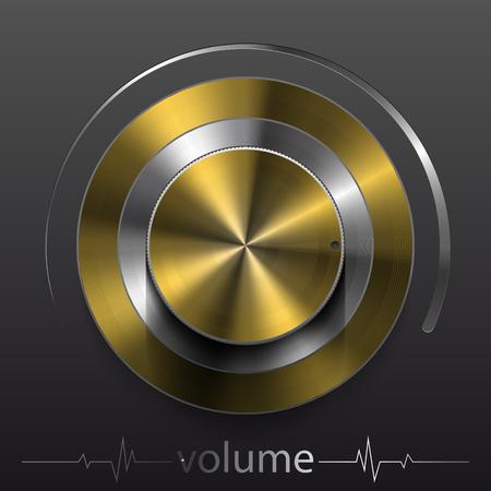 A button volume 向量圖像