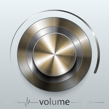 Un volume del pulsante Archivio Fotografico - 77245157