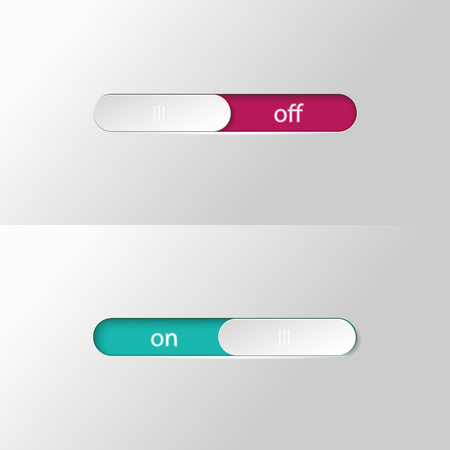 A button slider on off