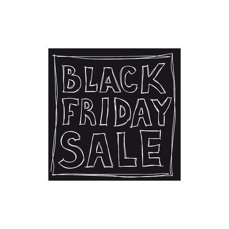 검은 금요일 판매. 자유형 그림 일러스트