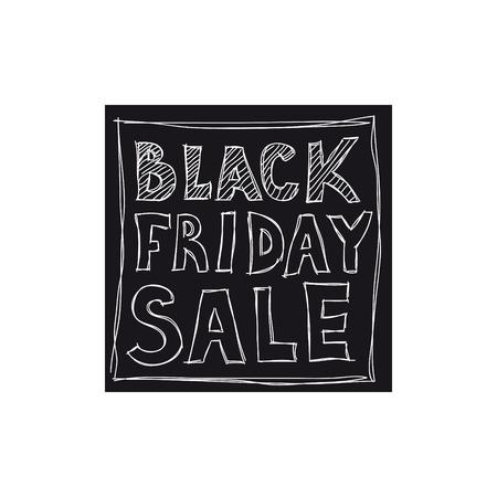 검은 금요일 판매. 자유형 그리기