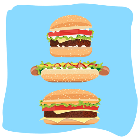 Hot Dog and hamburger