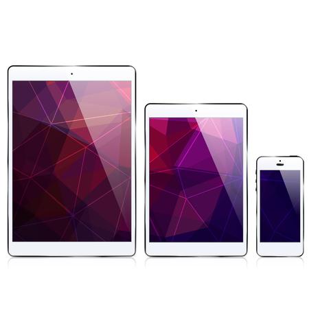 deltoid: ipad iphone  triangular abstract background