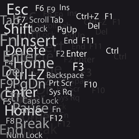 esc: keyboard windows text composition abstract background