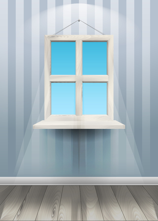 A Window on the wall. Vector Illustration 向量圖像