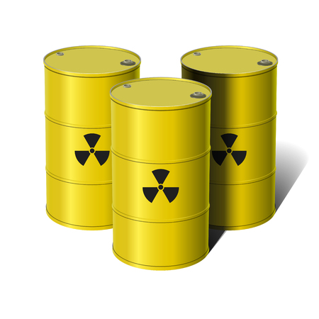 Barrel with sign Radiation. Vector illustration