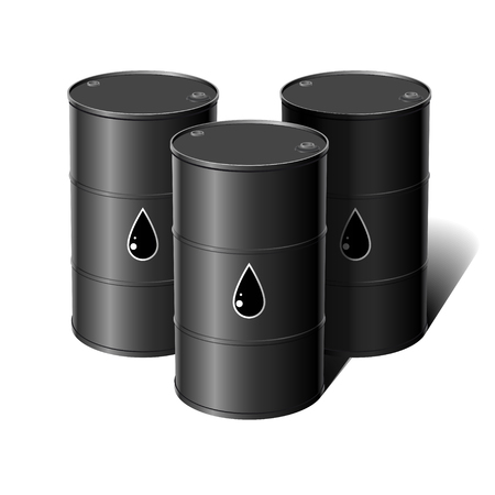 ounce: Barrel of oil. Vector illustration