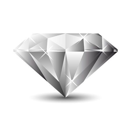 Diamond isolated on a white background. Vector Illustration Ilustrace