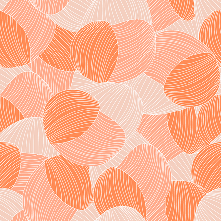 A Seamless abstract hand-drawn pattern, waves background. Gorgeous seamless floral background. Vector Illustration