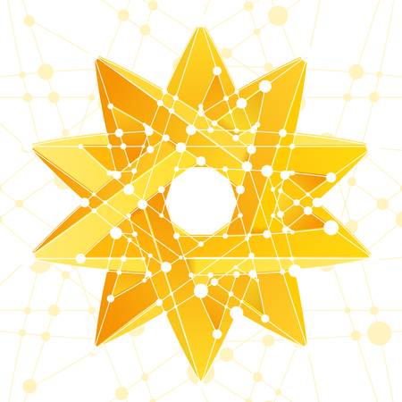 An Impossible star 3D for Your project. Abstract composition. Vector Illustration
