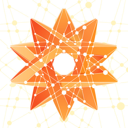 delta: An Impossible star 3D for Your project. Abstract composition. Vector Illustration
