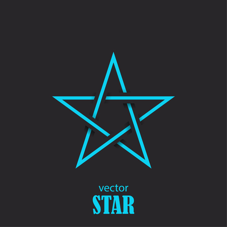 renown: Star flat abstract symbol. Popularity concept. Vector Illustration Illustration