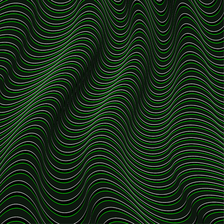 A black and green optical illusion. Vector Illustration