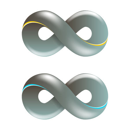 Infinity Symbol Logo. Vector Illustration