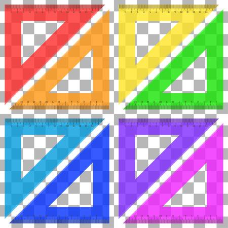 Ruler triangle of plastic transparent Illustration