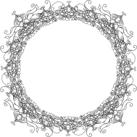floral ornament frame wreath