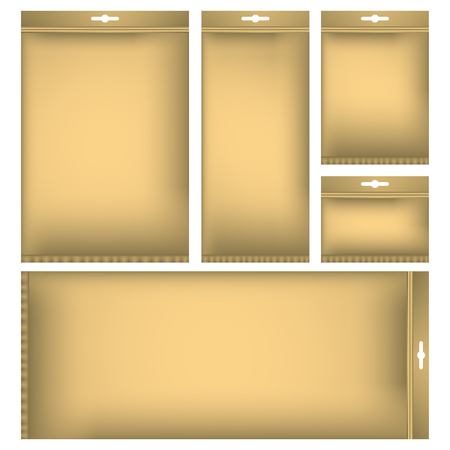 Package mock up set. Vector illustration