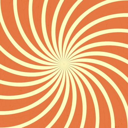 Oranje spiraal vintage